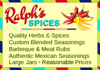 Buy herbs and Spices, Custom blended seasonings, BBQ and meat rubs, authentic mexican seasonings. Large jars at reasonable prices.